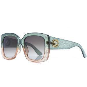 GUCCI Oversized Glitter Sunglasses NWT